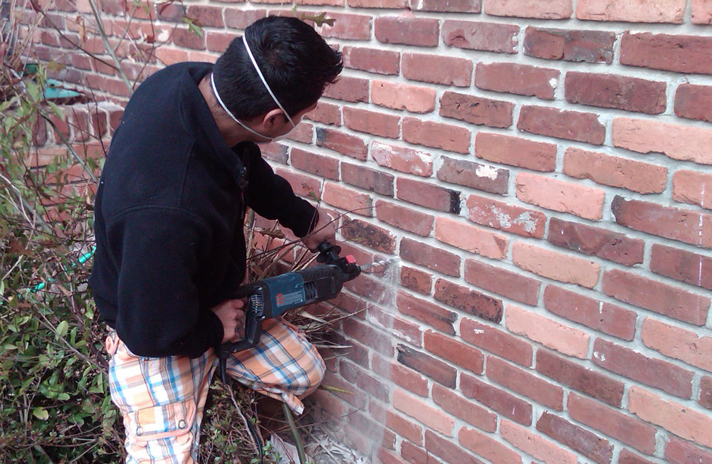 Injection Foam Insulation Into Brick Home