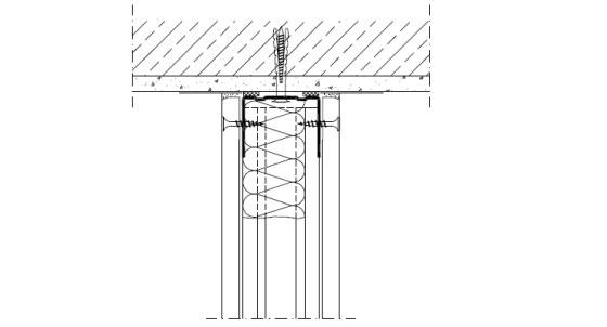 Връзка с масивен таван