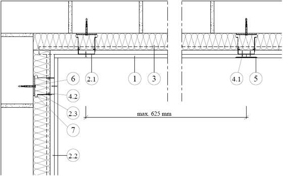 Rigips предстенна обшивка на директни окачвачи, EI 30 - 3.21.00